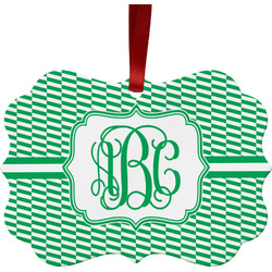 Zig Zag Ornament (Personalized)