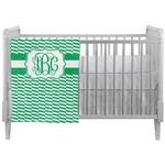 Zig Zag Crib Comforter / Quilt (Personalized)