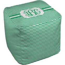 "Zig Zag Cube Pouf Ottoman - 18"" (Personalized)"