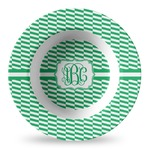Zig Zag Plastic Bowl - Microwave Safe - Composite Polymer (Personalized)