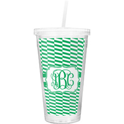 Zig Zag Double Wall Tumbler with Straw (Personalized)