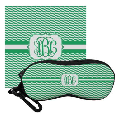 Zig Zag Eyeglass Case & Cloth (Personalized)