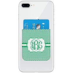 Zig Zag Genuine Leather Adhesive Phone Wallet (Personalized)