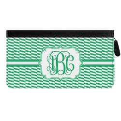 Zig Zag Genuine Leather Ladies Zippered Wallet (Personalized)