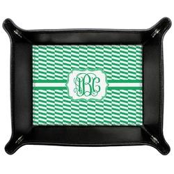 Zig Zag Genuine Leather Valet Tray (Personalized)