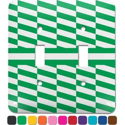 Zig Zag Light Switch Cover (2 Toggle Plate) (Personalized)