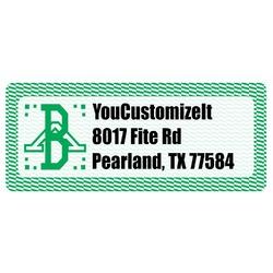 Zig Zag Return Address Label (Personalized)