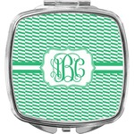 Zig Zag Compact Makeup Mirror (Personalized)