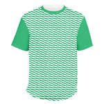 Zig Zag Men's Crew T-Shirt (Personalized)