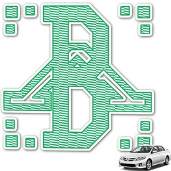 Zig Zag Monogram Car Decal (Personalized)