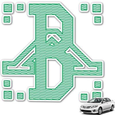 Zig Zag Monogram Car Decal (Personalized)