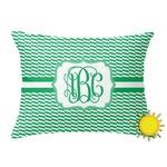 Zig Zag Outdoor Throw Pillow (Rectangular) (Personalized)
