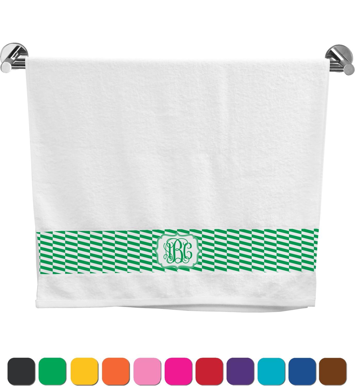Zig zag bath towel personalized youcustomizeit for Zig zag bathroom decor