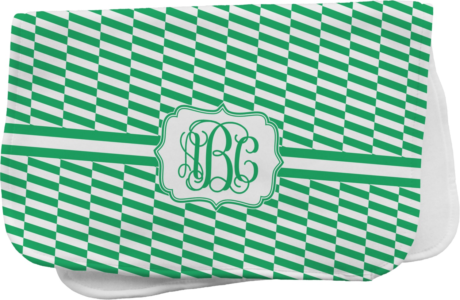 Zig Zag Burp Cloth Personalized Youcustomizeit