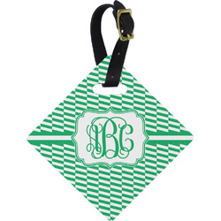 Zig Zag Diamond Luggage Tag (Personalized)