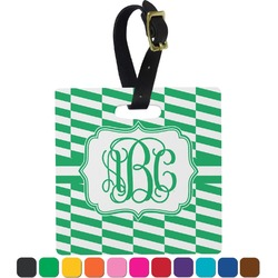 Zig Zag Square Luggage Tag (Personalized)