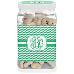 Zig Zag Pet Treat Jar (Personalized)