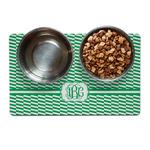 Zig Zag Pet Bowl Mat (Personalized)