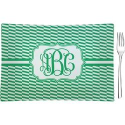Zig Zag Rectangular Glass Appetizer / Dessert Plate - Single or Set (Personalized)