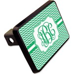 """Zig Zag Rectangular Trailer Hitch Cover - 2"""" (Personalized)"""