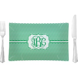 Zig Zag Rectangular Dinner Plate (Personalized)