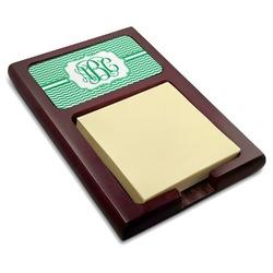 Zig Zag Red Mahogany Sticky Note Holder (Personalized)
