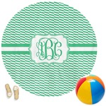 Zig Zag Round Beach Towel (Personalized)