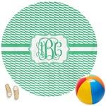Zig Zag Round Beach Towel (Personalized)