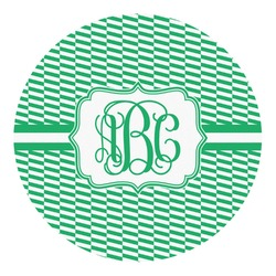 Zig Zag Round Decal - Small (Personalized)