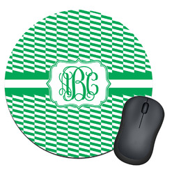 Zig Zag Round Mouse Pad (Personalized)