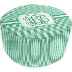 Zig Zag Round Pouf Ottoman (Personalized)