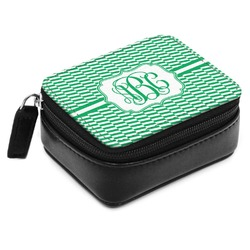 Zig Zag Small Leatherette Travel Pill Case (Personalized)