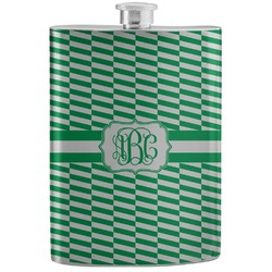 Zig Zag Stainless Steel Flask (Personalized)