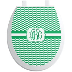 Zig Zag Toilet Seat Decal (Personalized)