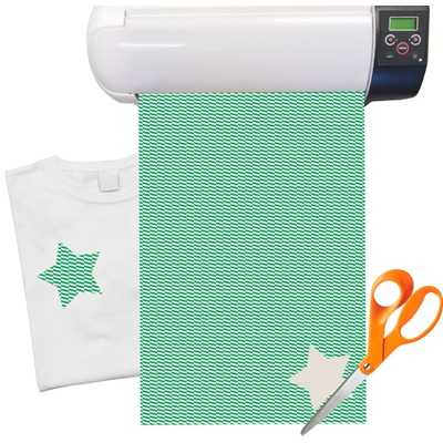 "Zig Zag Heat Transfer Vinyl Sheet (12""x18"")"