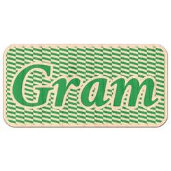 Zig Zag Genuine Maple or Cherry Wood Sticker (Personalized)
