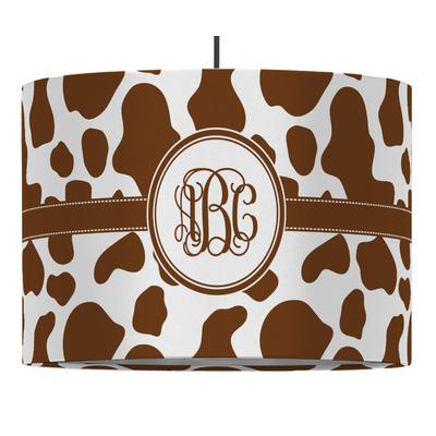 Cow Print Drum Pendant Lamp (Personalized)
