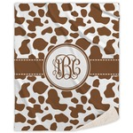 Cow Print Sherpa Throw Blanket (Personalized)