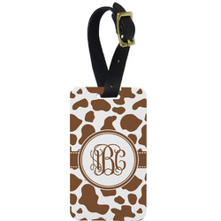 Cow Print Aluminum Luggage Tag (Personalized)