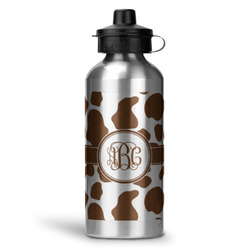Cow Print Water Bottle - Aluminum - 20 oz (Personalized)