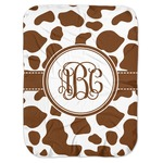 Cow Print Baby Swaddling Blanket (Personalized)