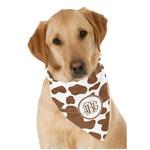 Cow Print Dog Bandana Scarf w/ Monogram