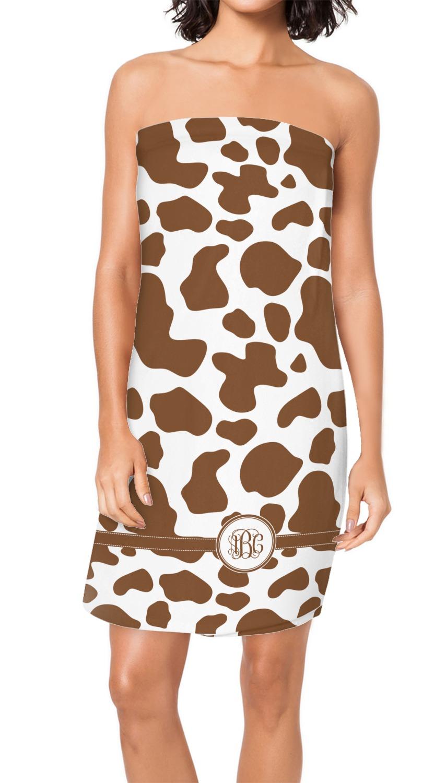 Cow Print Spa Bath Wrap Personalized Youcustomizeit