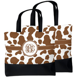 Cow Print Beach Tote Bag (Personalized)