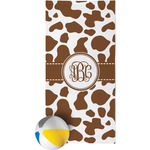 Cow Print Beach Towel (Personalized)