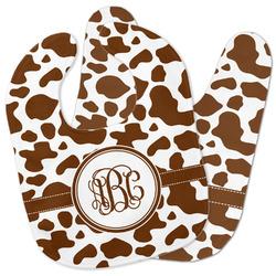Cow Print Baby Bib w/ Monogram