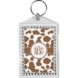 Cow Print Bling Keychain (Personalized)