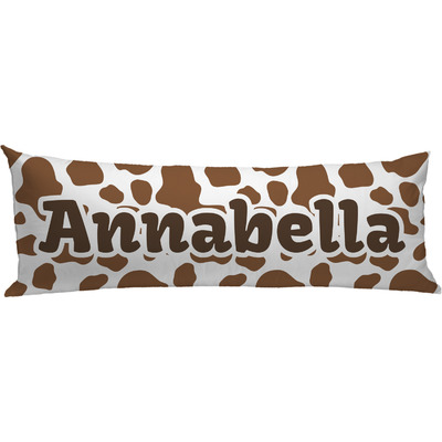 Cow Print Body Pillow Case (Personalized)