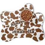 Cow Print Bone Shaped Dog Food Mat (Personalized)