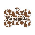 Cow Print Bone Shaped Dog ID Tag (Personalized)